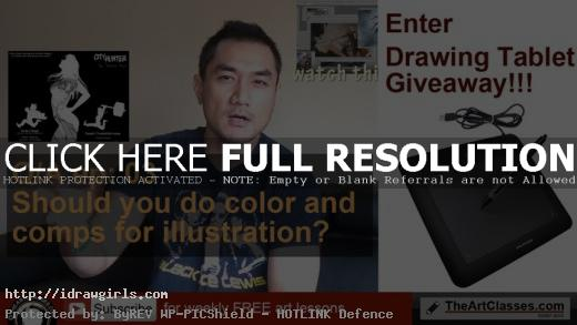 should you do color and comp before illustration