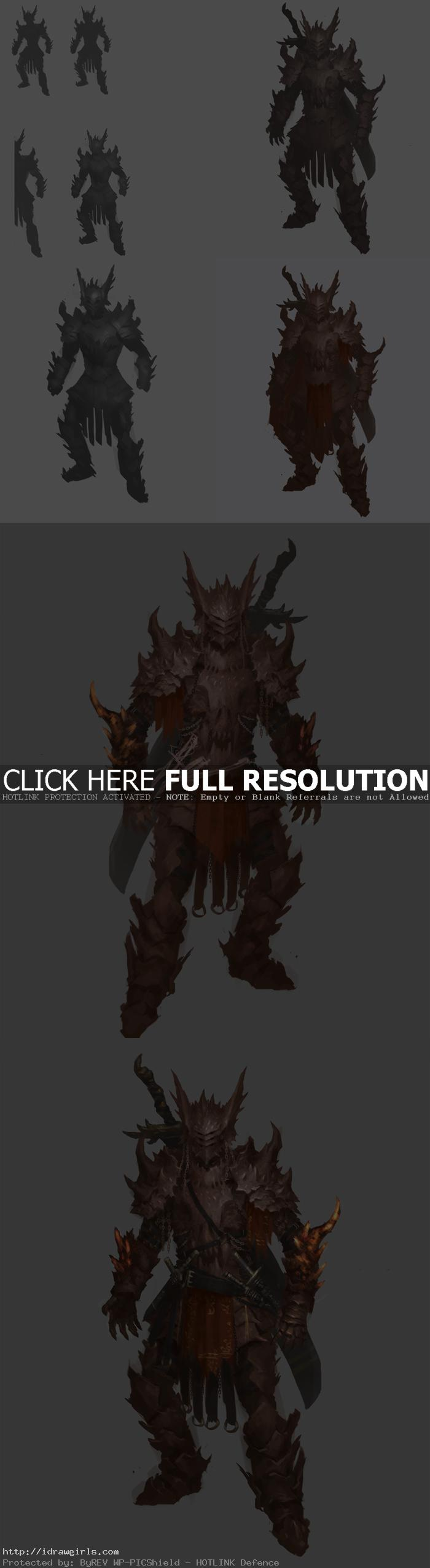 character design dragon knight step 01