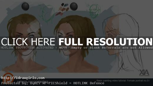 female portrait painting tutorials
