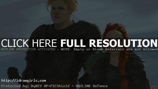 Sansa and Brienne digital painting video tutorial