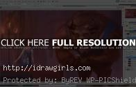 Drawing Beauty and the Beast digital painting