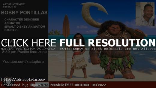 Interview Moana character designer Bobby Pontilas