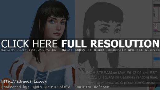 Snow white portrait digital painting tutorial
