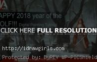 Snow forest and wolves digital painting video tutorial