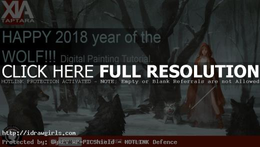 digital-painting-tutorial-snow-forest-and-wolves.